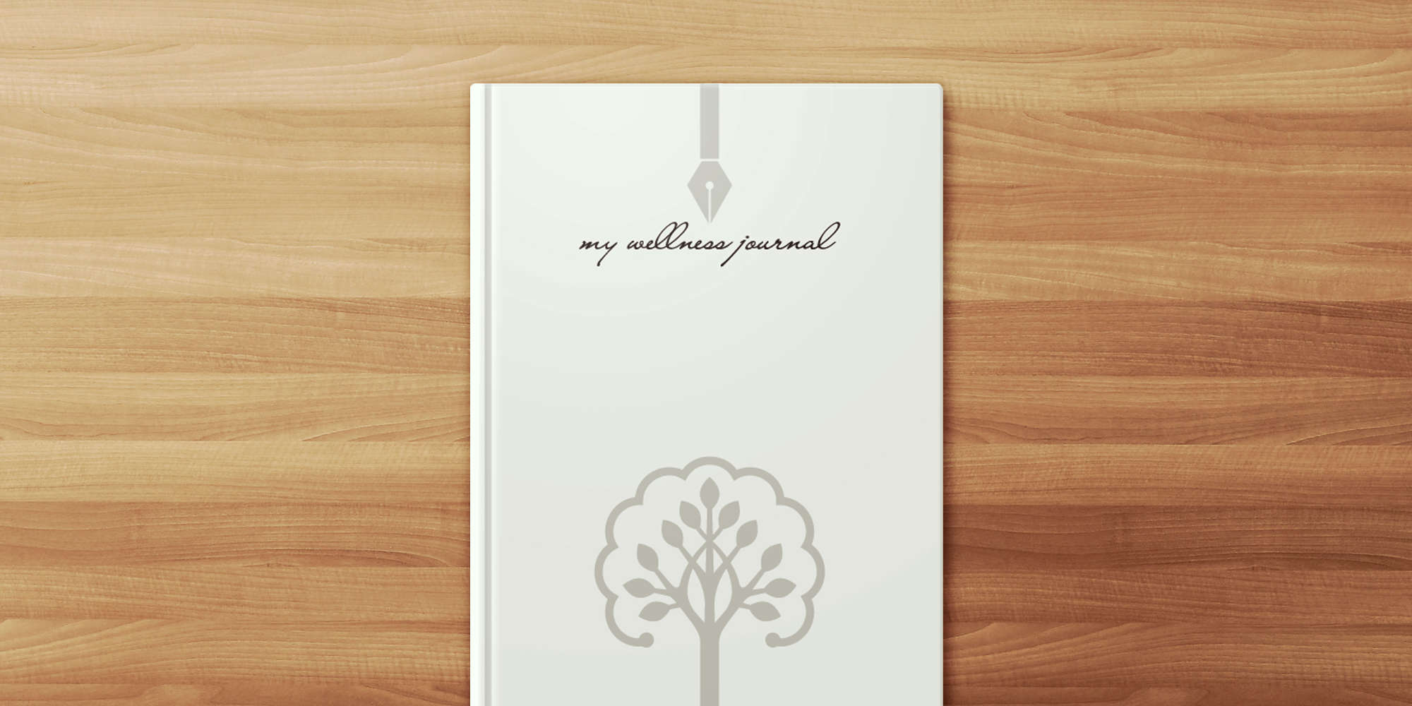 This variation of My Wellness Journal comes in a white hardcover binding that's both stain-resistant and elegant.