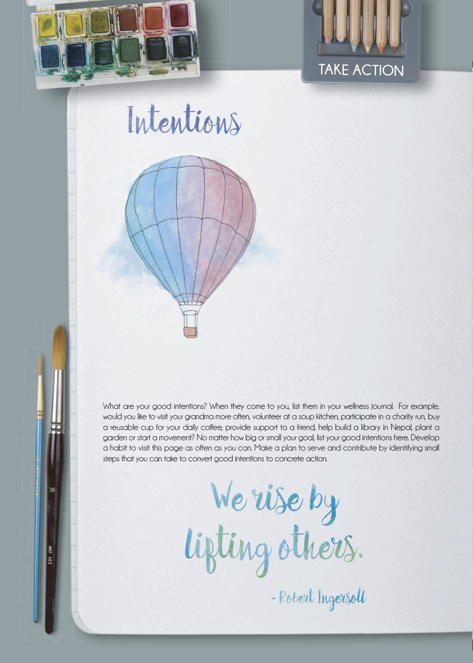 My Wellness Journal helps you plan intentional acts of kindness
